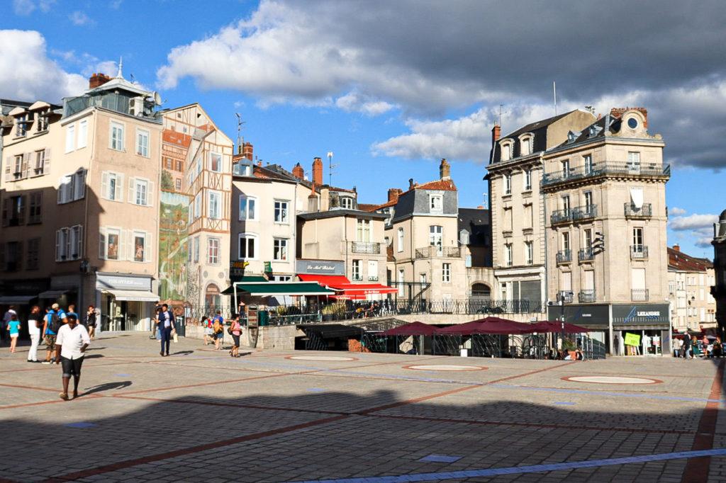 LImoges centre ville place du marché